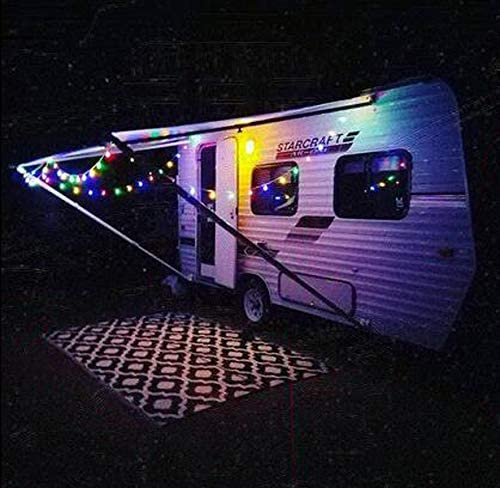 Easy to use Them to Hang Trailer Awning Lights onto rv Awning String Lights,Rope Lights,Hang Lights,Party Light Holder,Caravan Curtain,Travel Trailer Light Strand Pack of 50 RV Klippy Klips Clips