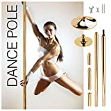 GOLD TONE - Portable Fitness Exercise Professional Dance Spinning Pole 45mm Set