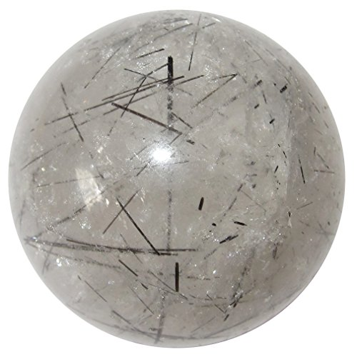- Satin Crystals Quartz Tourmaline Ball 1.25