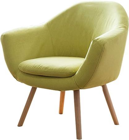 silla tapizada tela lino vison
