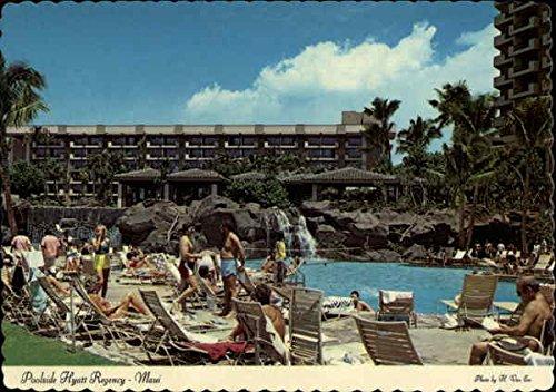 Poolside Hyatt Regency Maui, Hawaii Original Vintage - Maui Hyatt Regency