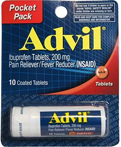 Advil Vial 10ct Tabs Size 10ct Advil Vial Tablets 10ct