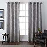 Cheap Exclusive Home Finesse Window Curtain Panel Pair with Grommet Top 54×84 Ash Grey 2 Piece