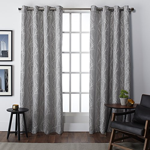 Cheap  Exclusive Home Finesse Window Curtain Panel Pair with Grommet Top 54x84 Ash..