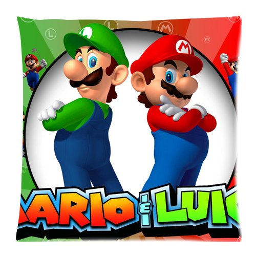 Super Mario et Luigi Custom Zippered Housses de coussin taies d'oreiller 45,7x 45,7cm (Twin sides) EnjoyU