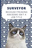 Medium College-Ruled Notebook, 120-page, Lined | Best Gift For Surveyor | Present For Grumpy Cat Fan or Land Surveying Career: Motivational Themed ... Work, Construction Job, Tracking Goals