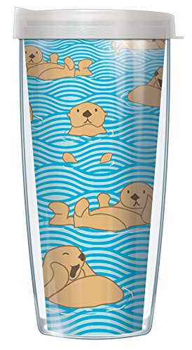 Otter 16oz Mug Tumbler Cup with Clear Lid