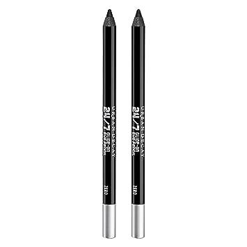 Urban Decay 24/7 Glide-On Waterproof Eyeliner Pencil, Zero - Pack of 2 - Zealous Black with Cream Finish - Award-Winning, Long-Lasting, Intense Color