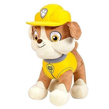 Paw Patrol - Patrulla Canina - Figura de Peluche Rubble Bulldog Softwool 35cm