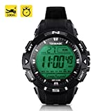 TEKMAGIC 10ATM Waterproof Sport Watch for Swimming Diving with Stopwatch, 12/24 Hour Format, Dual Time Zone, Alarm Functions
