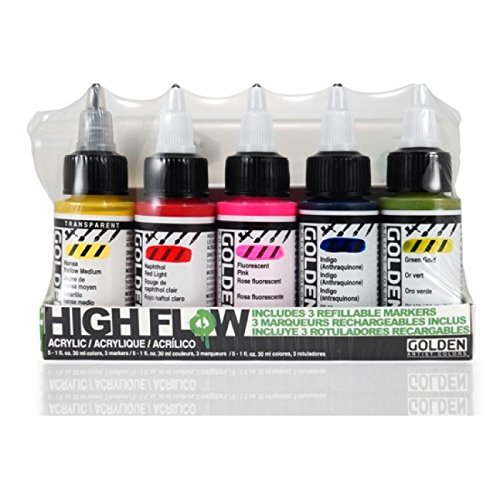 Golden High Flow Acrylic Ink And Marker Set by Golden