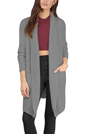 Viottis Women's Warm Open Front Knit Long Cardigan Sweater Coat ...