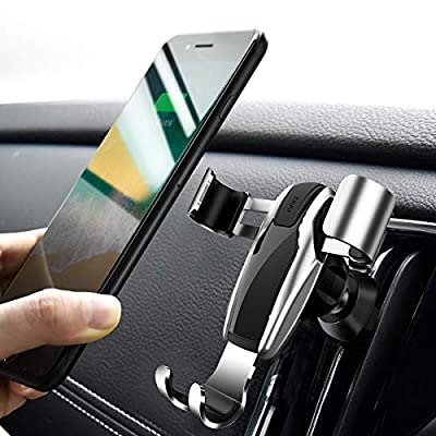 Cell Phone Holder for Car, Ainope Gravity Car Phone Mount Auto-Clamping Air Vent Car Phone Holder Universal Car Phone Mount Compatible iPhone Xs MAX/X/XR/8/7, Galaxy Note 9/S10 Plus/S9 - Silver (Divi) - 4042540 , B07DQSKY8T , 454_B07DQSKY8T , 17.99 , Cell-Phone-Holder-for-Car-Ainope-Gravity-Car-Phone-Mount-Auto-Clamping-Air-Vent-Car-Phone-Holder-Universal-Car-Phone-Mount-Compatible-iPhone-Xs-MAX-X-XR-8-7-Galaxy-Note-9-S10-Plus-S9-Silver-Divi-454_B07DQSKY