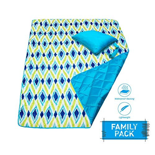 DOZZZ Large Waterproof Sand Proof Picnic Blanket Foldable Compact Mats for Camping Beach Outdoor Park Grass Travel Festival Sporting Events (Up Outdoor Zip Blanket)