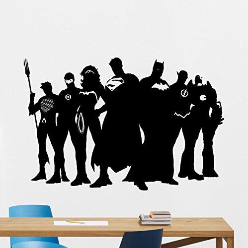Superhero Wall Decal Marvel DC Comics Superhero Vinyl Sticker Superman Batman Wonder Woman Flash Superhero Wall Art Design Housewares Kids Room Bedroom Decor Removable Wall Mural - Marvel Wonder Woman