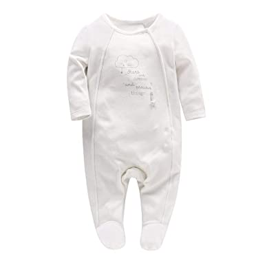 75c870f7bb3e4 Nouveau née Filles Pyjama Barboteuses Chaussons Combinaisons en Coton  Grenouillères Princesse Outfits