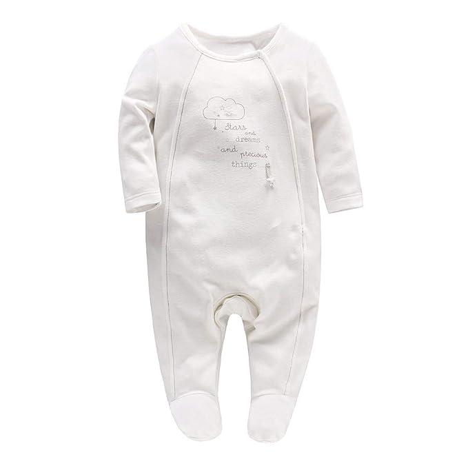 Minizone Bebé Niñas Peleles Pijama Algodón Mamelucos Tuta Monos de Manga Larga Princesa Trajes 0-18 Meses: Amazon.es: Ropa y accesorios