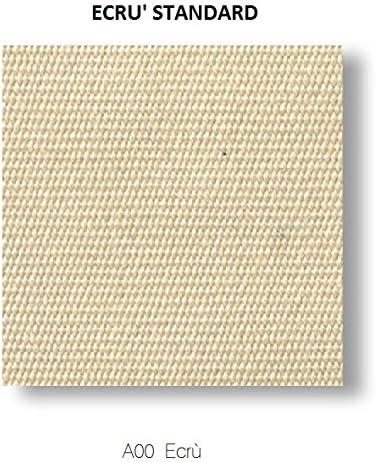Fim Rodi Sombrilla retráctil 3x4 en Aluminio Gris Antracita, Tela en Tejido acrílico Color Crudo con Base (Azulejos no incluidos): Amazon.es: Jardín