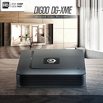 Amazon com: Bazaar Digoo DG-XME 4 8 12CH 1080P HDMI P2P Standalone