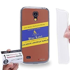 Case88 [Samsung Galaxy S4 Mini] Gel TPU Carcasa/Funda & Tarjeta de garantía - Art Fashion Design Whisky Never Drive After Drinking Johnnie Walked Art4037