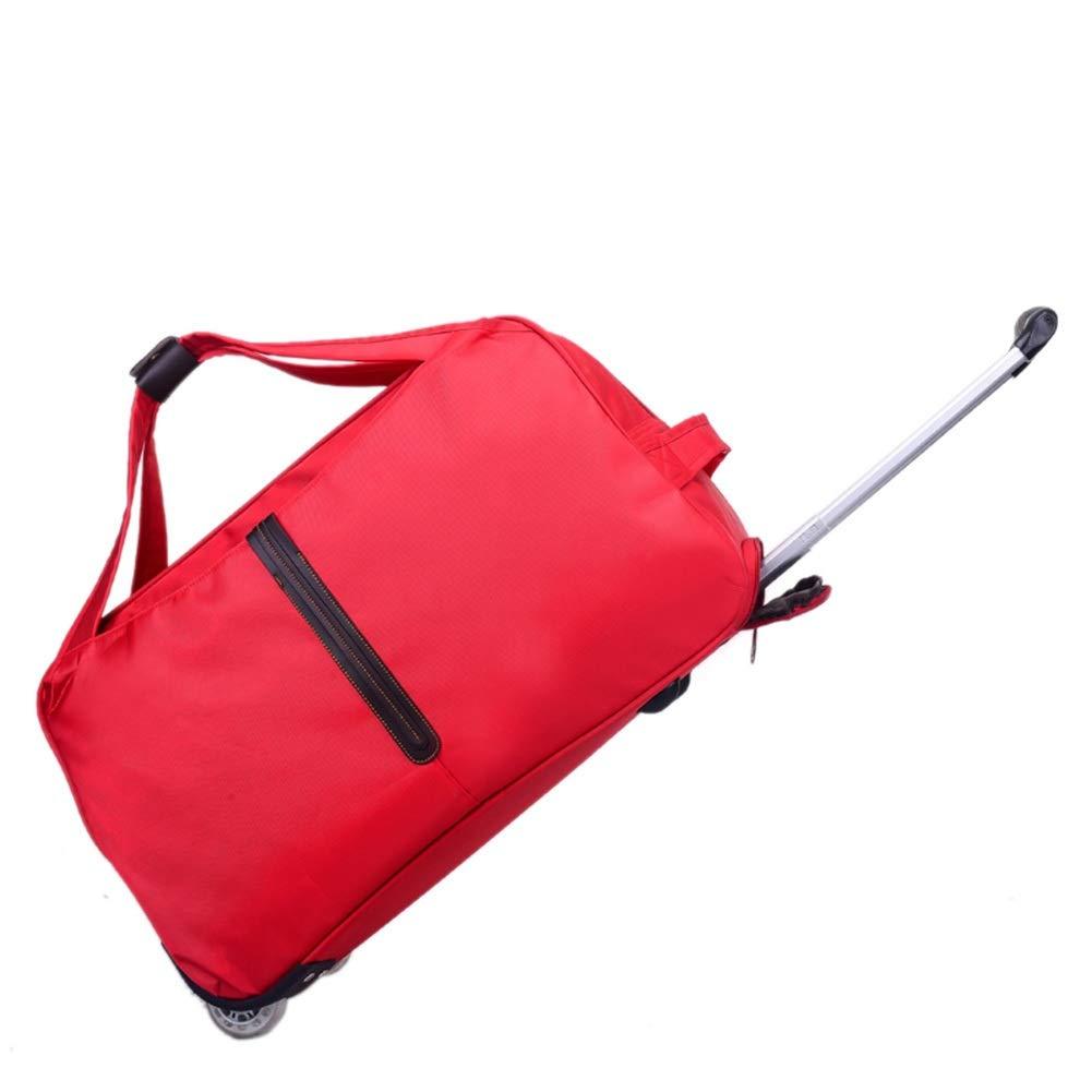 ZHANGQIANG ハンドトラベル荷物トロリーケース 十分に絶縁された2つの車輪が付いている動かされた大きい買物をするトロリー袋、黒 (色 : 赤, サイズ さいず : 大 だい) B07RY6CWFX 赤 大 だい