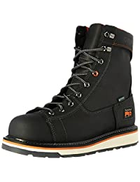 """Timberland PRO Men's Gridworks 8"""" Alloy Safety Toe Waterproof Industrial and Construction Shoe"""