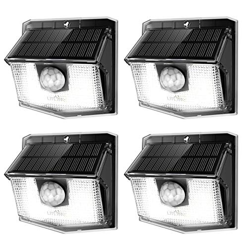 LITOM Lite 30 LED Solar Lights Outdoor, Easy to Install Motion Sensor Light with 270° Wide Lighting Angle, IP65 Waterproof Solar Security Light For Front Door, Yard, Garage, Garden, Patio, Deck-4 Pack