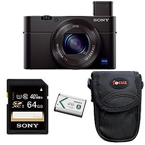 Sony DSC-RX100M III Cyber-shot Digital Camera (Black) with 64GB Deluxe Accessory Bundle