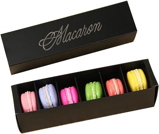 a-parts Macaron caja, contenedor de chocolate, galletas, sujetar el 6 Macarons 10 paquetes cajas de regalo: Amazon.es: Hogar