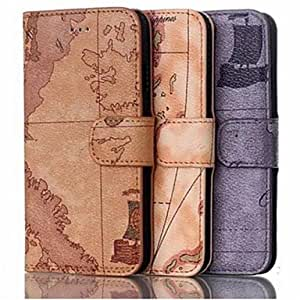 Zaki Support Mobile Phone Holster Case Character Map Iphone6 Plus 5.5 Inches , Brown