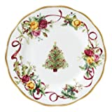 Royal Albert Old Country Roses Christmas Tree Salad Plate, 8-Inch