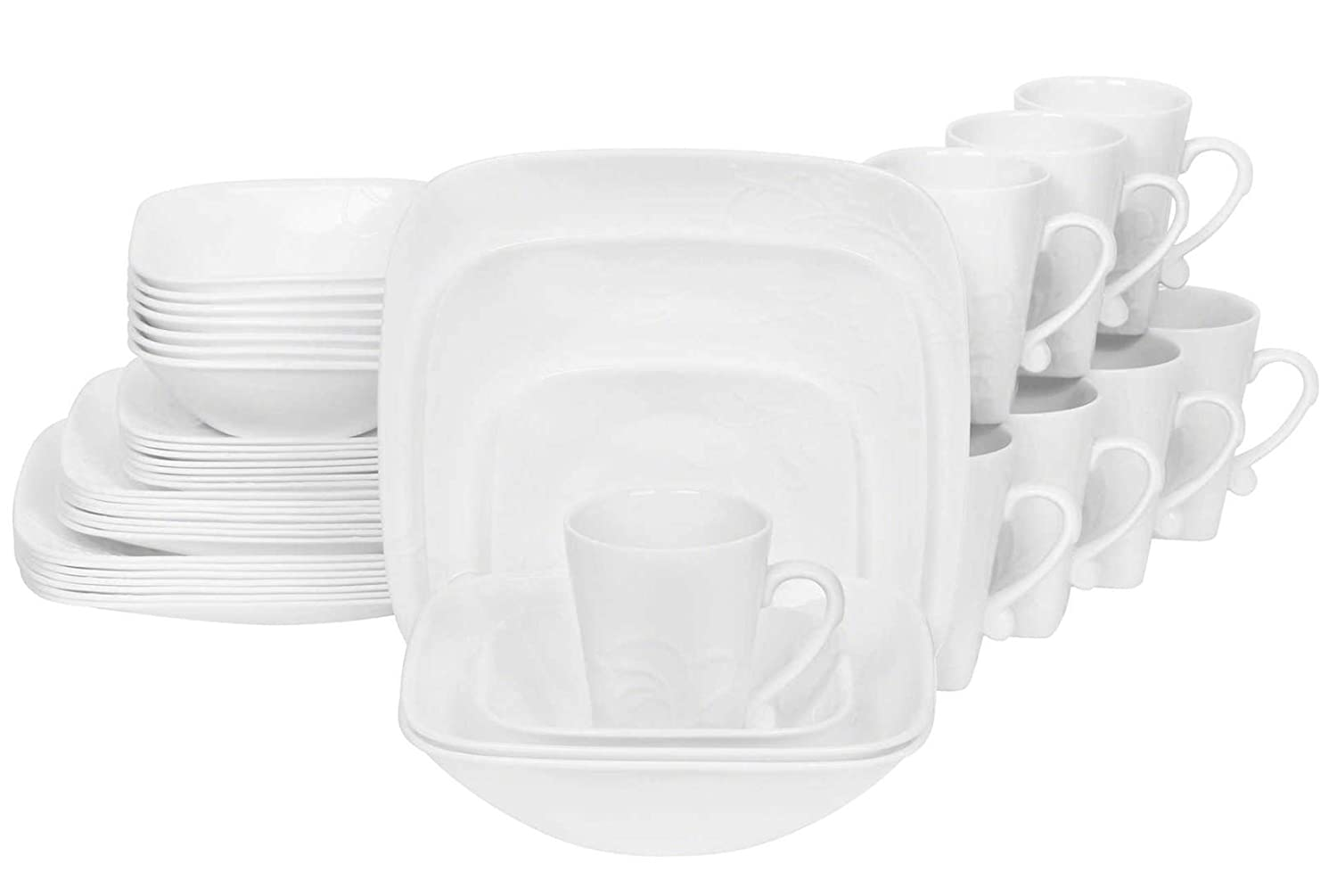Amazon.com | Corelle Boutique Cherish 42 Piece Dinnerware Set: Dinnerware  Sets