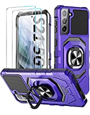 Case for Samsung Galaxy S21 Ultra 5G Case 6.8 inch Phone Case Military Grade Shockproof Heavy Duty Cases Galaxy S21 Ultra Case Kickstand 360 Ring Holder Cover Case for Samsung S21 Ultra Phone Case