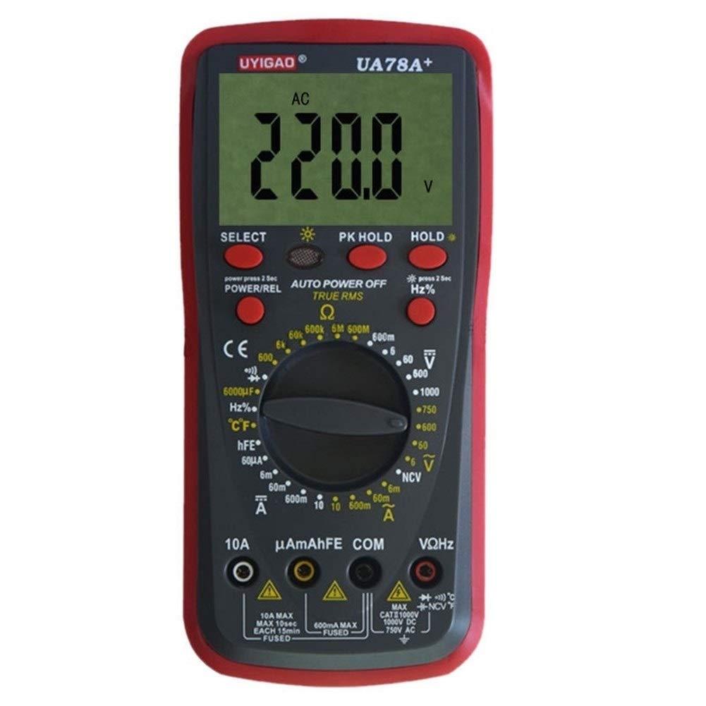 Digital Tester UA78A Plastic Shell Ohmmeter AC DC Testing Digital Multimeter High Precision Tester Meter