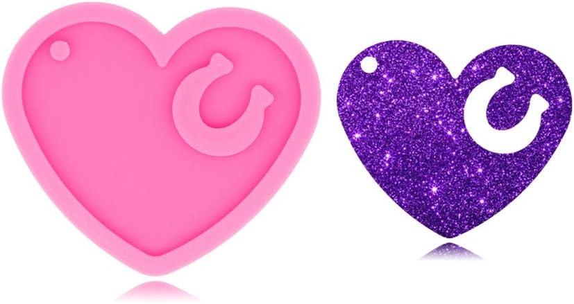 Molde de silicona brillante brillante con forma de corazón--