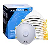 Amston Tool Company N99 Disposable Protective Dust Mask Particulate Respirator w/ Valve | NIOSH Approved |10-Pack