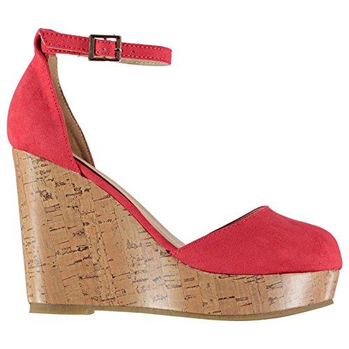 Plataforma Correa 37 Zapatos Circle Tobillo 4 Zapatillas Mujer Señoras Rojo Casual Full ITw4qBHxnB
