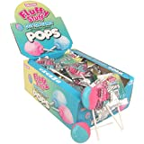 Charms Candy Fluffy Stuff Cotton Candy Lollipops, (48 Pack)