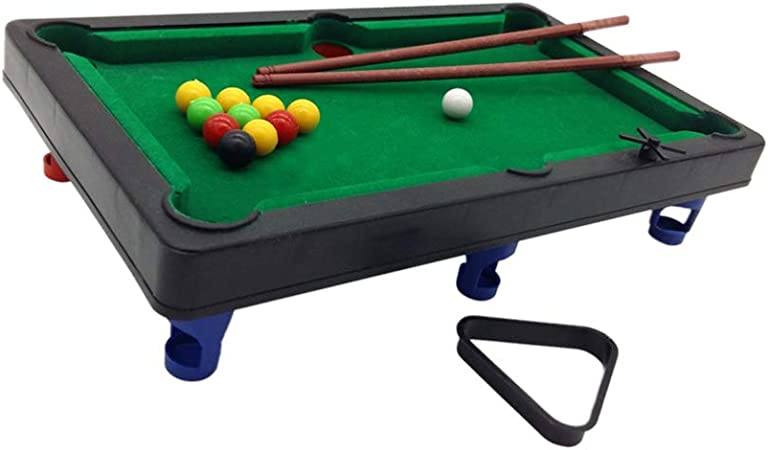 NUOBESTY 1 Juego de Billar Pequeño Juego de Billar de Plástico Juguetes de Billar Mini Snooker de Interior Juguetes Mesa de Fiesta Deportes para Niños Familiares 30X17x6.4Cm: Amazon.es: Deportes y aire libre