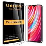 [3 Pack] UniqueMe Screen Protector for Xiaomi Redmi Note 8 Pro Tempered Glass, 9H Hardness Bubble Free