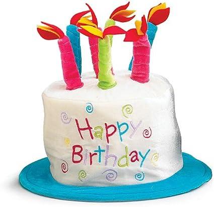 Amazon.com: Nylon Feliz cumpleaños Sombrero con velas fiesta ...