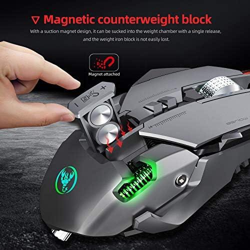 Red tide Souris De Jeu Mécanique, Éclairage RGB / 12-Niveau DPI Réglable Jusqu'à 6400 Dpi / 7 Souris Programmable,Mechanical Mouse