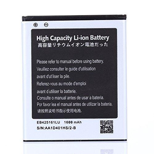 High Capacity Samsung Galaxy Exhibit SGH-T599N Battery EB425161LU For Samsung Galaxy Exhibit SGH-T599N / Samsung Galaxy S3 Mini GT-I8190 / Samsung Galaxy Ace 2 GT-I8160 / Samsung Galaxy Exhibit SGH-T599 1600 mAh
