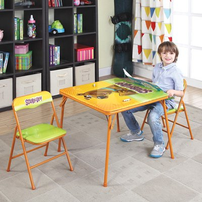 O'Kids Scooby Doo Metal Activity Table and Chair - Doo Scooby Furniture
