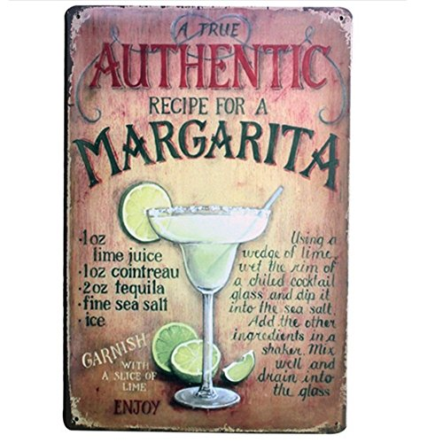 Retro Vintage Metal Bar Signs Outdoor Tin Sign Wall Plaque Poster Margarita for Cafe Bar Pub Beer Club Wall Party Home Decor -