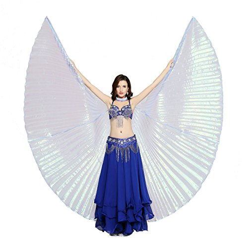 Dance Fairy Colorful Yarn Belly Dance Iridescent Isis Wings for Halloween (Royal (Dance Fairy Costumes)