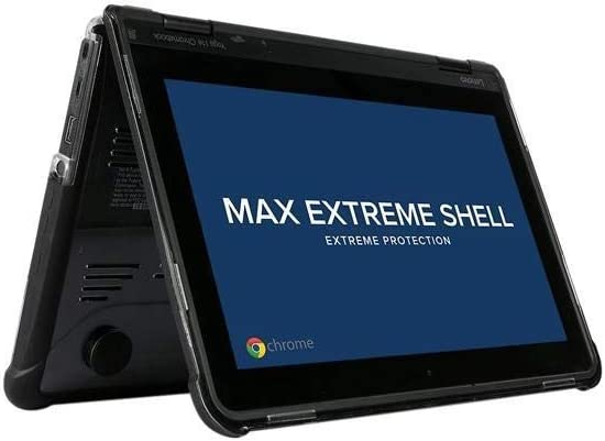 MAX Cases Extreme Shell for Lenovo 11e G3/G4 Chromebook Case Offers Dual Layer Protective Shell, Shock and Impact Protective Cover - Black