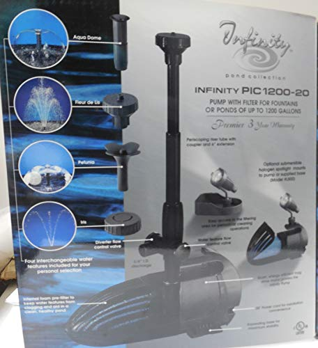 Little Giant Nozzle - Cal Pump Infinity Pond Nozzle Collection with 1200 GPH Pump