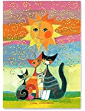 Rosina Wachtmeister–Bollywood–Torchon–Imprimé/multicolore–Chat