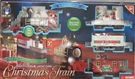 blue hat north pole junction christmas train set 34 piece - North Pole Junction Christmas Train